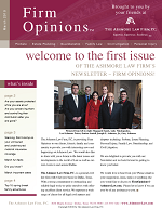 March 2010 Newletter - Welcome to the First Issue